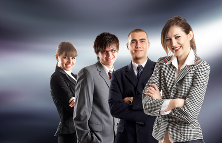 Young attractive business people - businessteam Stock Photo - 1686110