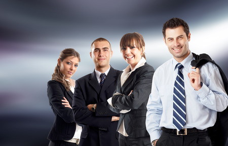 businessteam: Young attractive business people - businessteam Stock Photo