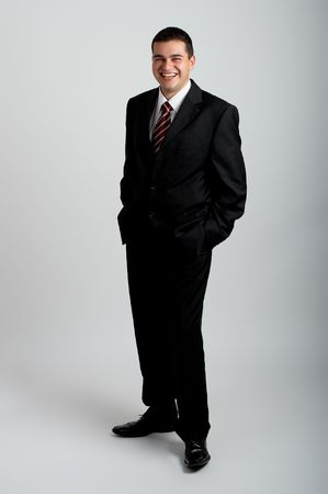 Handsome Businessman in black outfit shot in studio Stock Photo - 1799254