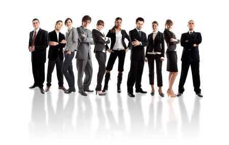 Young attractive business people - the elite business team Stock Photo - 1878484