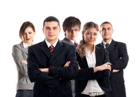 Young Business Team - group of business professionals photo