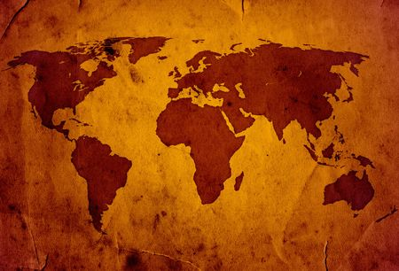 XXL World Map grunge style high quality