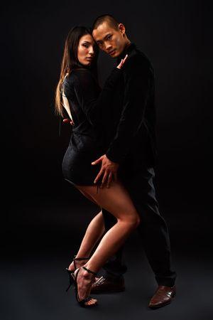 Fashion Couple Dramatic image shot in studio