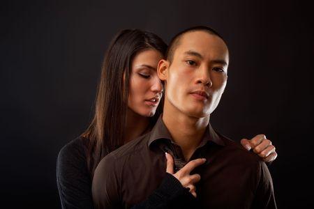 Fashion Couple Dramatic image shot in studio photo
