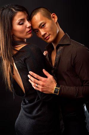 Fashion Couple Dramatic image shot in studio Stock Photo - 2409484