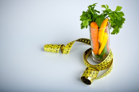 Healthy vegetables in a glass photo