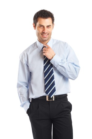 Portrait of a handsome businessman isolated on a white background photo