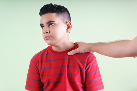 scold: Latin preteen scold by his father