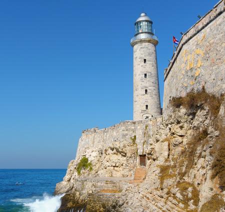 havana cuba: Castle of El Morro in Havana, Cuba Editorial