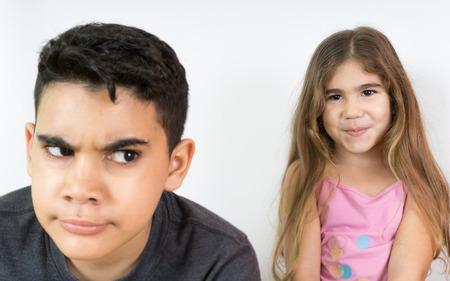 two kids very quiet