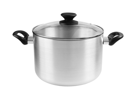 Saucepan isolated on white 스톡 콘텐츠