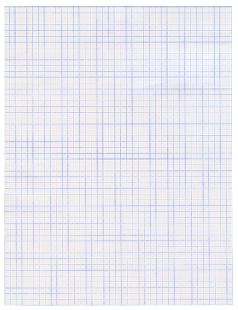 A blank sheet of paper in a box torn from a notebook in mathematics