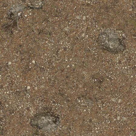 Vague dirt road with small pebbles with a textured surface .Texture or background.