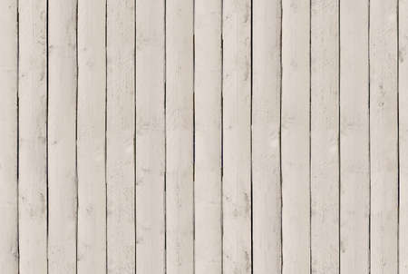 Background texture of old white painted wood wall cladding Board Banco de Imagens