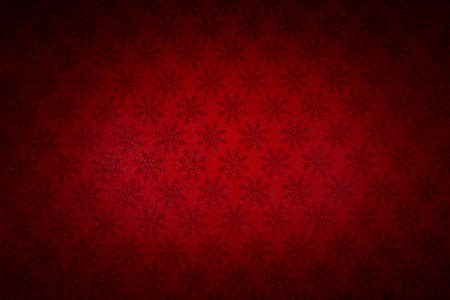 Red Christmas background with snowflakes.Texture or background Banco de Imagens