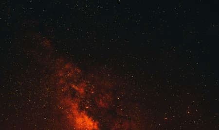 Night sky filled with stars.Texture or background Banco de Imagens