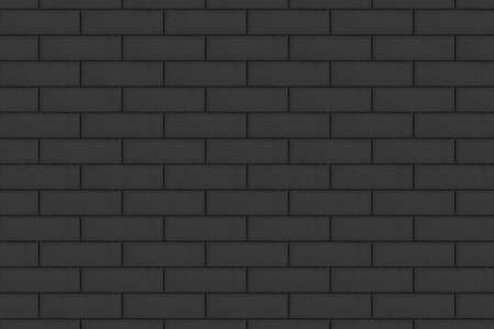 Image of black brick wall background.Texture or background Banco de Imagens