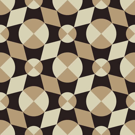 Pattern of geometric abstract shapes of rounded shape Banco de Imagens