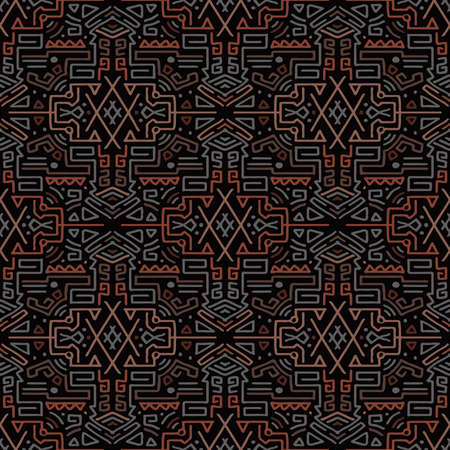 Abstract patterns of ancient hieroglyphs multi-colored.Texture or background Banco de Imagens