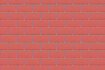 Decorative red brick wall for home with detailed texture