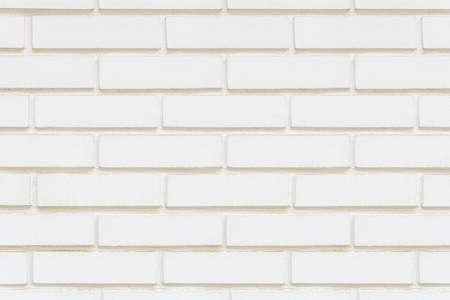 White brick wall detailed pattern textured background Archivio Fotografico