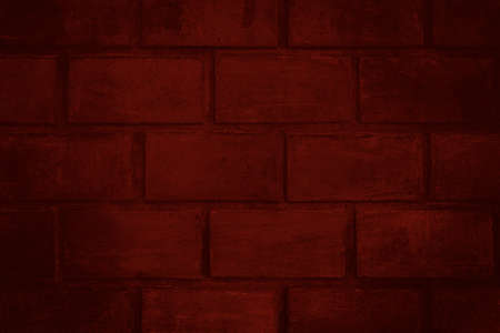Red brick wall with detailed texture for background or texture