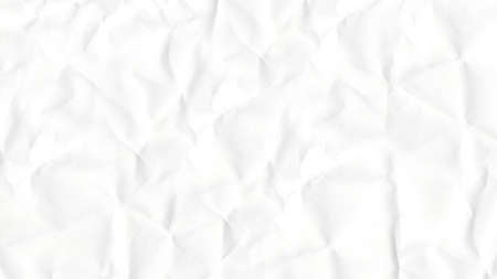 Crumpled textured white paper close-up.Texture or background