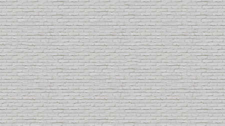 White brick wall detailed pattern textured background.Texture or background Banco de Imagens