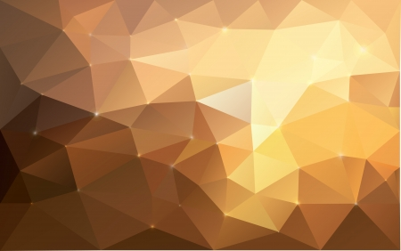crushing: Triangular abstract gold texture  Vector background