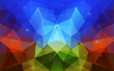 Triangular abstract colorful texture