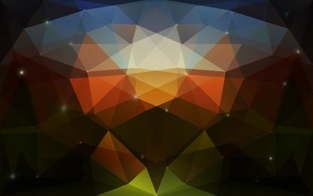 diamond shaped: Triangular colorful dark texture  Vector background