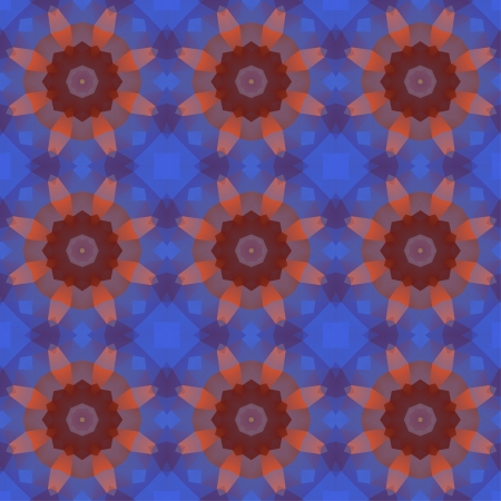 Kaleidoscope abstract blue pattern. Vector concept illustration. Vector
