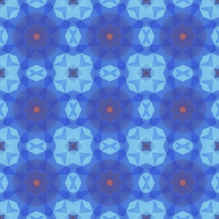 Kaleidoscope abstract blue pattern.  Vector