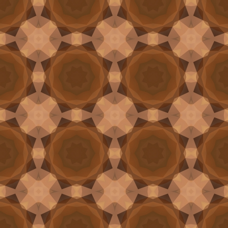 Kaleidoscope abstract gold pattern. Vector concept illustration. Vector