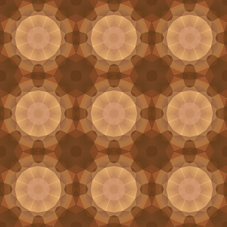 Kaleidoscope abstract gold pattern.  Vector