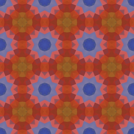 Kaleidoscope abstract colorful vintage pattern.  Vector