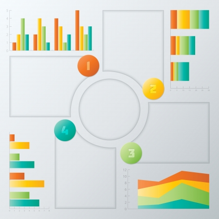 Colorful Steps Infographics Elements.  Vector