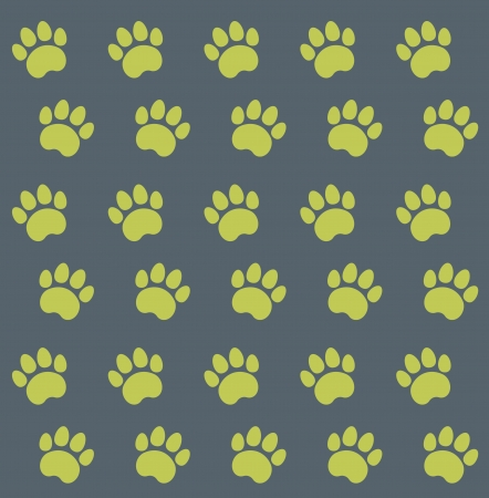 Traces of Cat Textile Pattern.  Vector