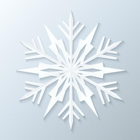 Paper Snowflake. Vectorillustratie.