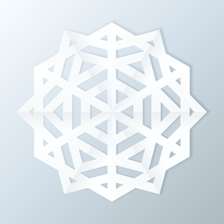 Paper Snowflake. Vector Illustration. Vector