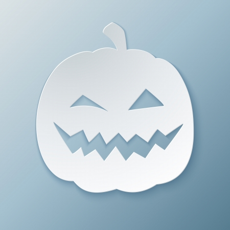 Paper Pumpkin. Vector Illustration. Vector