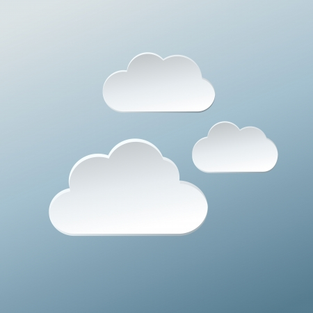 Paper Clouds. Vector Illustration. Vector