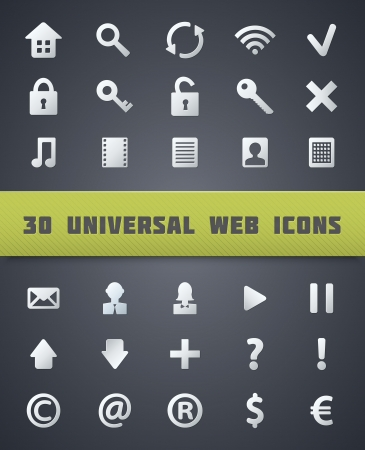 Universal Web Icons. Vector Set. Vector