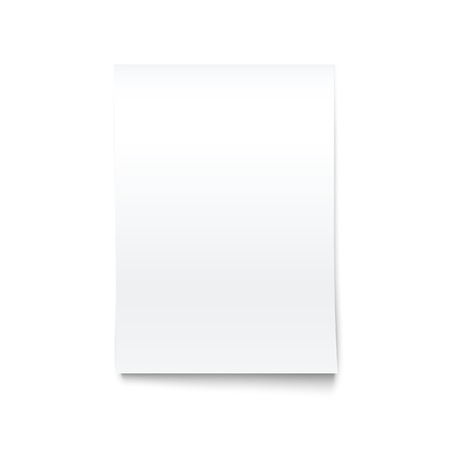 Isolated on White Blank Office Paper Mock-Up..Vector Illustration. 向量圖像