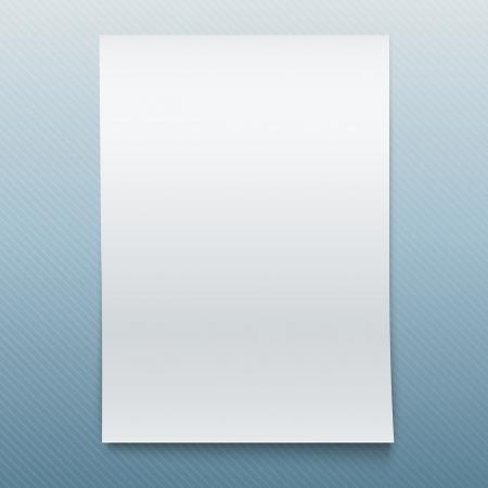Blank Office Paper Mock-Up .. Vector Illustration.
