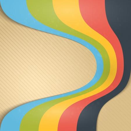concert poster: Abstract Vintage Ribbons Background   Illustration