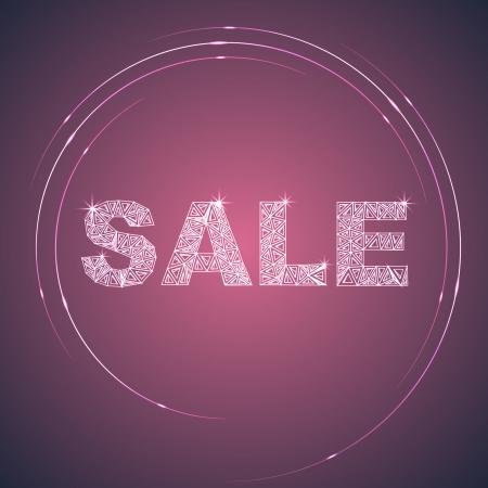light zoom: Illuminated Purple Sale Label