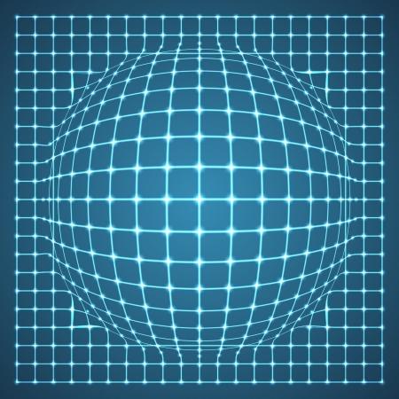 Illuminated Grid Sphere  Vector