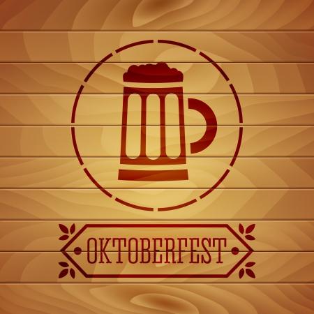 オクトーバーフェスト ポスター  イラスト・ベクター素材