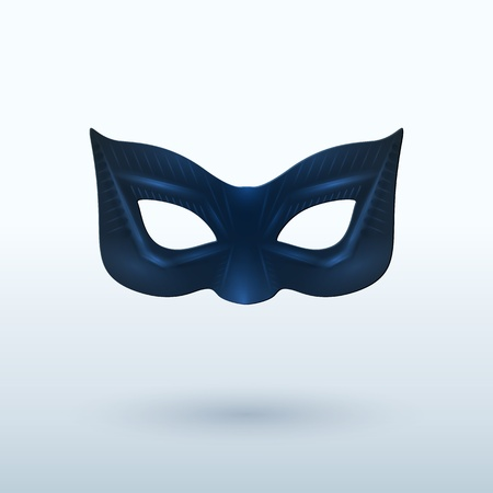 drama mask: Black Leather Mask